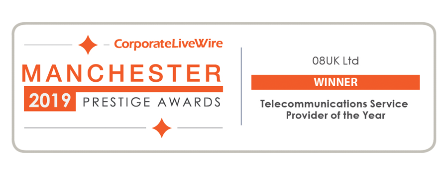 08UK Win Telecoms Service Provider of the year award 2019