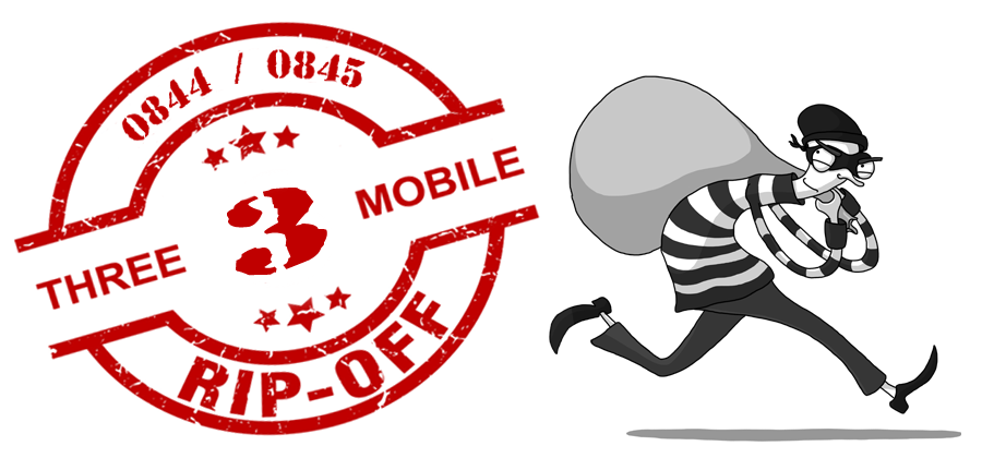 Three Mobile Ripping off UK Customers with highest UK access charge to call 0844/0845