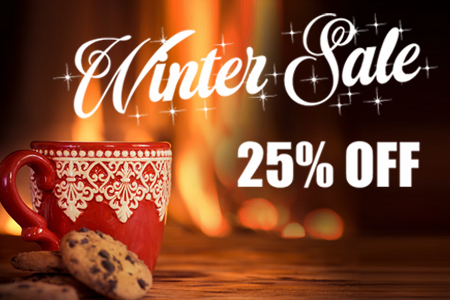 25% Off Winter Warming Sale