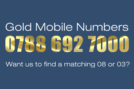 Gold Mobile Numbers – Want us to find a matching 08 or 03?