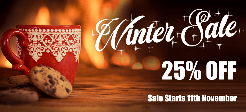 Winter Sale Now On 25% off