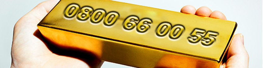 Gold 0800 Phone Numbers