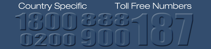 International Numbers – TOLL FREE