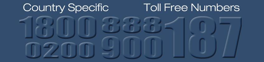 International Numbers – TOLL FREE